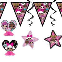 LOL Surprise! 7 Piece Swirls Decoration Kit Birthday Party Supplies