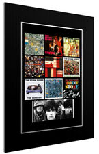 More details for mounted / framed print the stone roses  discography - different sizes print