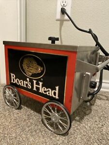 🔥VERY RARE! Boars Head Mini Hot Dog Cart Stand Collectible Collectors Antique