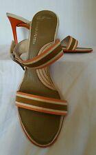 Donald pliner heels sz 8 orange & brown excellent condition , see pics!