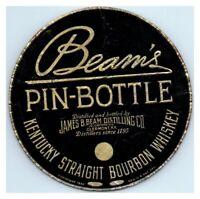 Beam's Pin-Bottle Bourbon Whiskey Bottle Label