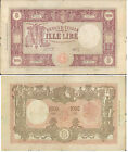 """REPUBBLICA ITALIANA """"MEDUSA""""1.000 LIRE GRANDE M DECRETO 14 APRILE1948 R@RO 3 BB+"""