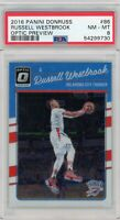2016-17 Donruss Optic Russell Westbrook Preview SSP PSA 8 THUNDER ULTRA RARE