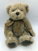 Russ Berrie Duncan Brown Teddy Bear Bow Tie Plush Kids Stuffed Toy Animal Doll