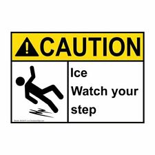 ComplianceSigns Aluminum ANSI CAUTION Sign, 10 x 7 in. with Watch Your Step...