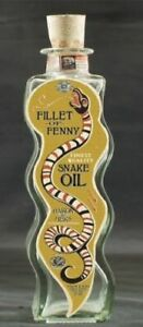 NEW SET OF 6 SNAKE OIL APOTHECARY POTION MEDICINE GLASS BOTTLES WITH CORK 22cm
