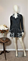SIONI Grey/Black LagenLook Cardigan/Sweater-Size S