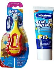 Wisdom Step by Step Baby Toothbrush and Toothpaste bundle set 0-2 years