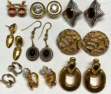 All Signed AVON Crystal Rhinestone Pearl Enamel etc Earrings Jewelry #E49
