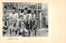 SINGAPORE MALAYSIA NATIVES ASIA POSTCARD (c. 1910)