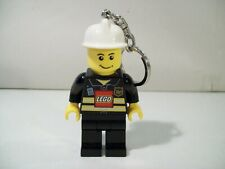 LEGO FIREMAN MINIFIG FIGURE LED LITE KEY CHAIN FIRE FIGHTER LIGHT UP