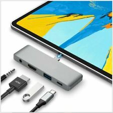IPad Pro Tipo C Hub USB 3.1 Adaptador Usb C 3.5mm Auricular 4k HDMI Dongle PD
