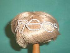 """Kunsthaarperücke blond 18/19 kurz/ doll wig blond 7"""" to 7.5"""" short"""