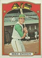 1972 Topps Baseball #715 SP Pat Mike Epstein Oakland Athletics High Number Card