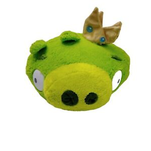 Angry Birds Green King Pig Plush Soft Stuffed Animal Toy Washed Clean 15cm 2016