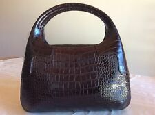 Genuine Crocodile Women handbag A.Testoni, Italian Made Designer bag, Brand New