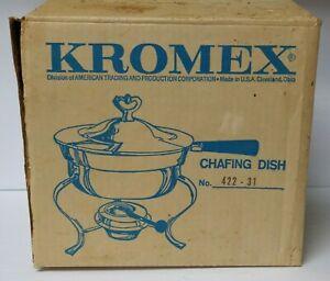 Vintage Kromex Chafing Dish Server New in Box NIB NOS 422-31