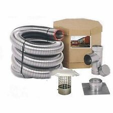 Home Flexible Single Ply 6-Inchx25-ft Stainless Steel Pipe Masonry Chimney Liner
