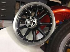 Front 02-08 Harley Touring Black 9Spoke Wheel 16x3 Rim Road Electra Glide