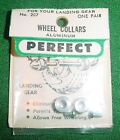 PERFECT WHEEL COLLARS, MODEL AIRPLANES, ALUMINUM, PAIR, #207, NEW IN PACKAGE