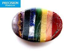 Seven-gemstone Chakra Thumb Palm Healing Therapy Multi-coloured Worry Stone