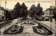 Montluçon France AK ~ 1910 avenue president wilson routes lot carte post.