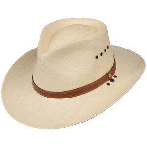 Genuine Panama Mens Hat 3 inch Brim USA Made No. 2 Natural Straw