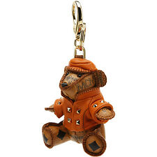 Authentic MCM Animal Doll Rider Bear Beige Bag Charm / Key Chain MYZ2AVI41CO