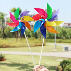 5Pcs Garden Yard Party Windmill Wind Spinner DIY Ornaments Decoration Kids Toy
