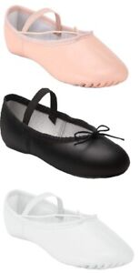 Ballet Dance Leather Shoes Full Sole Children's and Adult's Sizes