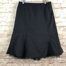 A Pea In The Pod Womens Maternity Nylon Tulle Skirt Size L Black
