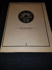 U2 A Celebration Rare Original UK Promo Poster Ad Framed!