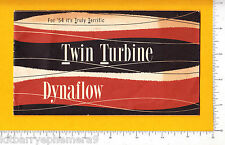 7538 Buick Car Twin Turbine Dynaflow 1954 booklet automotive