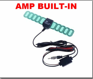 FM TV Radio Digital Antenna With Amplifier Booster Built-In