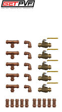 "Lot of 25 PCS ProPress 1/2"" Copper Fittings & Valves ** SAVE ** ** NEW **"