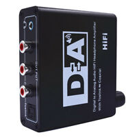 Digital to Analog Audio Hifi Headphone Amplifier Toslink Coaxial L/R RCA Adapter