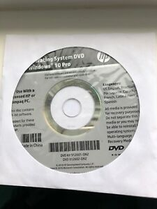 Operating System Windows 10 DVD Restore Repair Install For HP Computers