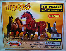 """3D PRE-COLORED WOOD PUZZLE """"HORSE"""" BY PUZZLED"""