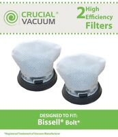 2 Replacements Washable & Reusable Bissell 1479 Bolt Filters Part # 1604734