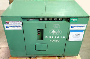 Sullair 10-30 AC/AC 30HP 575VAC Enclosed Rotary Screw Air Compressor - Inv #3669