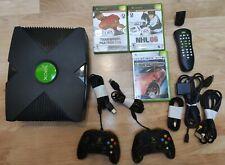 Xbox original console bundle w/ 3 games, 2 controllers and remote