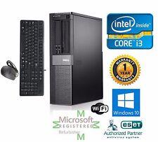 Dell Desktop Computer Intel Core i3 Windows 10 pro 64 120GB SSD 3.1ghz 8gb Ram