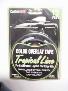 American International CA1203CL Tropical Lime 12 Ft. Color Overlay Tape