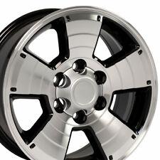 "17"" Rims Fit Toyota Trucks 4Runner Style Black Mach'd Wheels 69429"