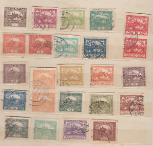 CZECHOSLOVAKIA, CASTLE STAMPS   IMPERFORATED , 1918-1920, INCLUDING BETTER,