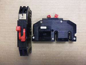 Zinsco R38 RC38 AL 20 Amp slim twin tandem Circuit Breaker red handle