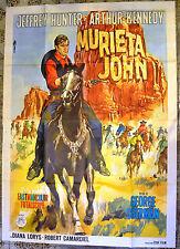 MANIFESTO ORIGINALE MURIETA JOHN 66 Joaquin Murieta JEFFREY HUNTER KENNEDY