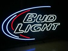 "New Bud Light Window Wall Real Glass Neon Sign 20""x16"" Beer Lamp Light"
