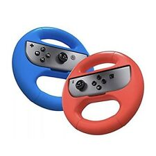 Nintendo Switch Joy Con Racing Wheel Two Pack By Yok Double Pack Red Blue New