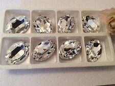 SWAROVSKI # 4127 Strass Ovale Grande sventate Crystal 30x22mm 2 di CRAFT post libero